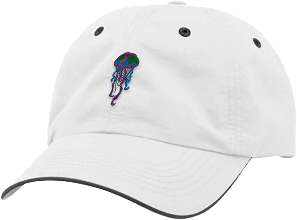 Custom Richardson Running Cap Jellyfish Embroidery Animal Name Polyester Hat