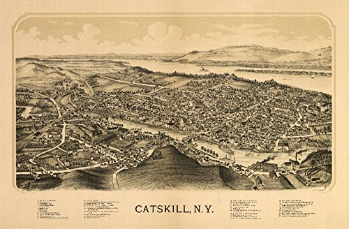 Catskill, New York - Panoramic Map (12x18 Art Print, Wall Decor Travel ()