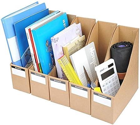 YOTINO Archivador kraft Papel 5Pcs Set de Archivador Papel kraft Duro para Organizador de Documentos y Archivos, Papel Kraft Marrón, 9 x 26.3 x 27 cm: Amazon.es: Hogar