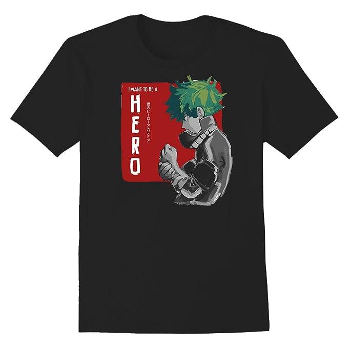 c96bf562f2 Amazon.com  My Hero Academia Izuku Midoriya Premium T-Shirt  Clothing