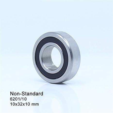 LUANAYUN-PHONE CASE Precision 6201//10 2RS Non-Standard Bearings 10x32x10mm ABEC-1 2 Pcs 103210 Deep Groove Ball Bearing
