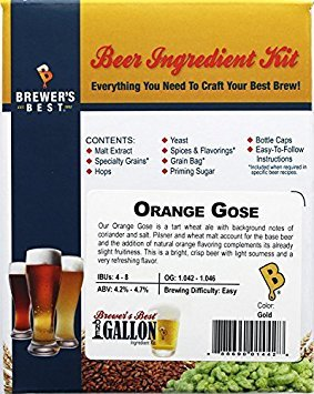 Brewer's Best One Gallon Home Brew Beer Ingredient Kit (Orange Gose) (Best 1 Gallon Brewing Kit)