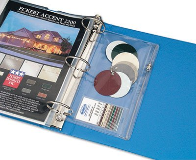11'' x 9-1/2'' Clear 3-Ring Vinyl Zipper Pouches with Binder Holes (7.5 Gauge) (25 Pouches) - AB-99-1-8C