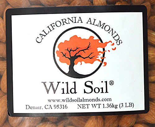 Wild Soil Almonds - Distinct and Superior to Organic, Steam Pasteurized, Probiotic, Raw 3LB Bag by Wild Soil (Image #2)