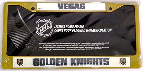 gold color license plate frame - 2