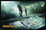 the walking dead season 5 poster - The Walking Dead Season 5 Poster in a Black Thin Poster Frame (24x36) 04189-PSA009874