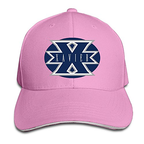unisex-xavier-musketeers-fashion-adjustable-sandwich-peaked-baseball-cap-hat-pink