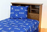 Duke University Blue Devils Sheet Set Team Color Cotton Sheets