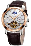 TSS Men's Automatic Tourbillon Moonphase Watch T8030PM1 - Stainless Steel Round Watch Synthetic Sapphire Pure & Clear Window - Precise Movement Analog Display - Water Resistant Up To 50m
