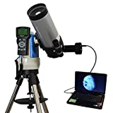 Silver 90mm Portable GPS Computer Controlled Telescope with 9MP Digital USB Camera