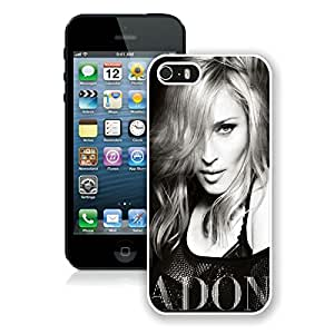iPhone 5 5S Case,Excellent protection Madonna Ciccone Black and White White For iPhone 5 5S Case