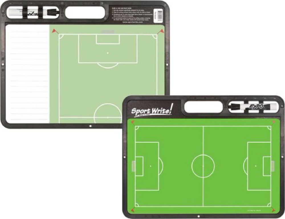 Sport Write Pro Soccer Coaching Board Features two writing surfaces