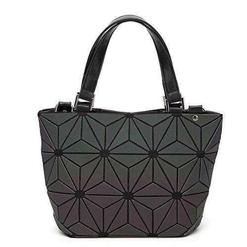 (JVPS 23-B) Paquete de variedad brillante 2018 Nuevo bolso de cubo Moda Moda de diamante en forma de diamante japonés Moda bolso plegable Negro 1