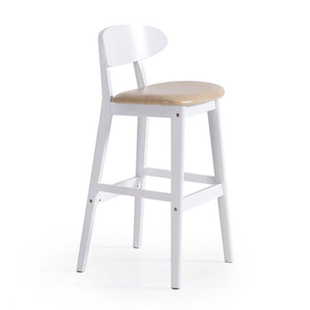 木製のバーの椅子クリエイティブホワイトチェアヨーロピアンスタイルの椅子単純なレトロバーのスツールスツール (色 : Beige PU) B07DPPCK3R Beige PU Beige PU