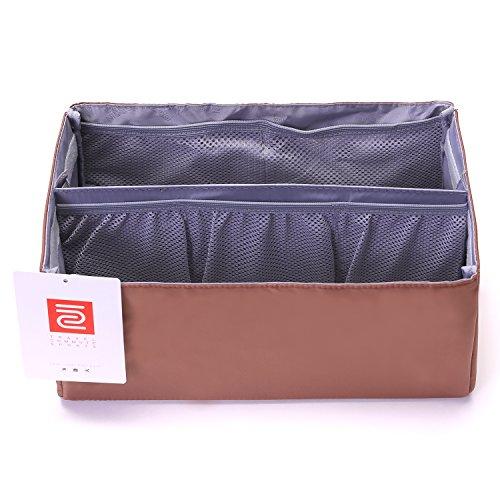 IN Purse Organizer,Handbag Organizer Insert for Speedy 25,30,35 Purse Liner Foldable (Medium, brown) by iN. (Image #7)