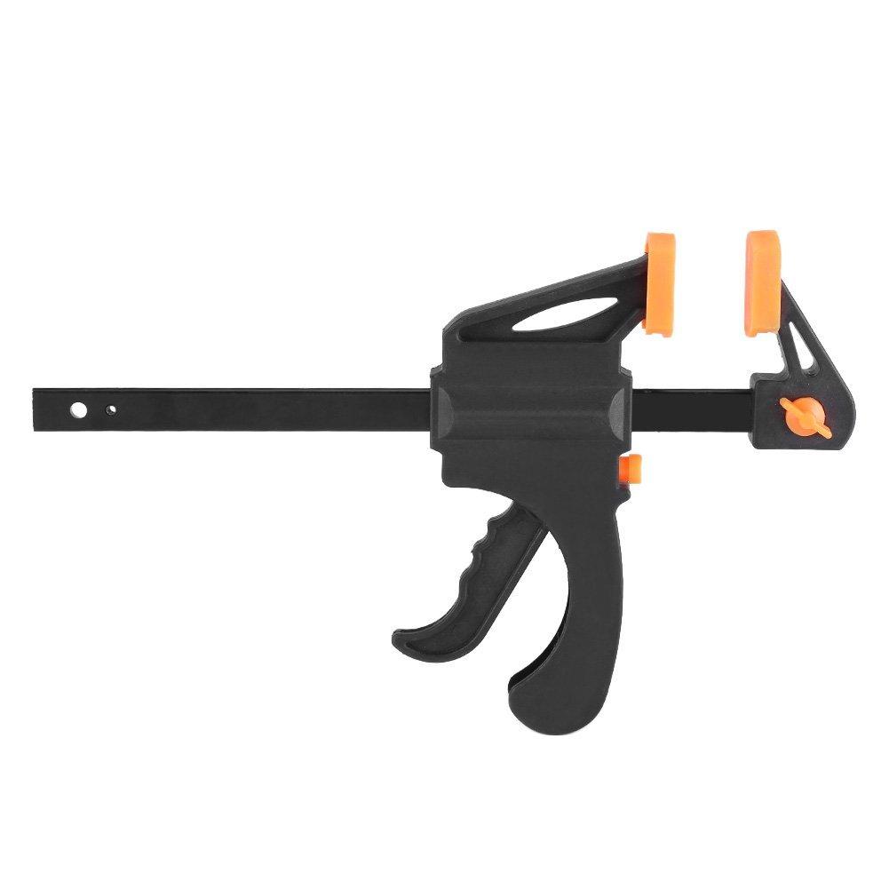 Zerodis 6 inch F-Clamp Grip Woodworking Clip Quick Ratchet Release Squeeze Carpenter Tool DIY Hand Gadget(Orange)