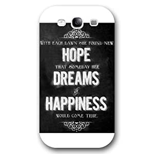 UniqueBox Customized Disney Series Phone Case for Samsung Galaxy S3, Walt Disney Quotes Samsung Galaxy S3 Case, Only Fit for Samsung Galaxy S3 (White Frosted Shell)