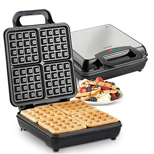 VonShef Quad Belgian Waffle Maker 1100W