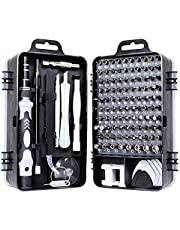 precision screwdriver set,FomaTrade 115 in 1 Professional Screwdriver Set, Multi-function Magnetic Repair Computer Tool Kit Compatible with iPhone/Ipad/Android/Laptop/PC etc