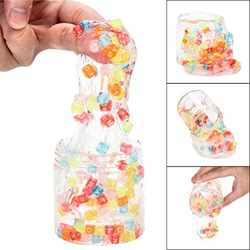 Kanzd Mixing Colourful Letter Clear Slime Squishy Putty Scented Stress Kids Clay Toy (A)