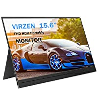 Portable Monitor Display 1920×1080 15.6-inch Super Thin IPS Gaming Monitor Screen USB-C for Laptop Computer Mac Phone HDMI Device,PS4 Xbox,Nintendo,Raspberry pi,Mac Mini,Mobile with Leather Case