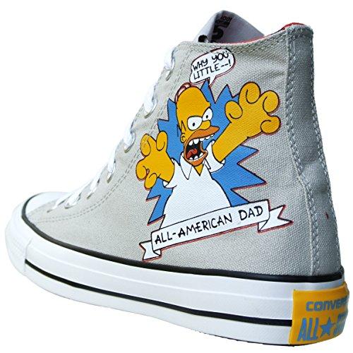 Converse Tutte Le Stelle Chuck Taylor Colore: Blau, Gelb, Grau The Simpsons 146808 Bart Simpson Gr: Eu: 39 Uk: 6 Limited Ox
