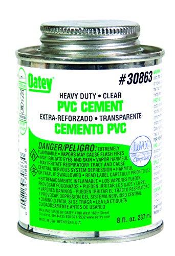 Oatey 30863 PVC Heavy Duty Cement, Clear, 8-Ounce