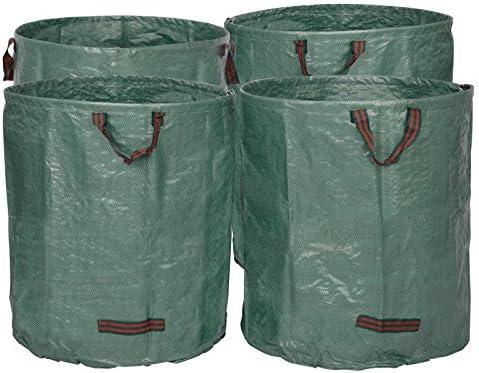 WOLTU 4X 272L Bolsa de Jardín al Aire Libre Sacos para Desechos de Jardín 4uds. Bolsas de Basura de Jardín para Hojas PP 150 g/m² GZA1207gnQ4: Amazon.es: Jardín