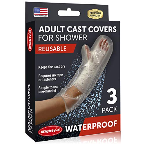 Waterproof Cast Cover Arm - 100% Reusable - Adult Cast Covers for Shower Arm, Wrist & Hand - 3 Pack