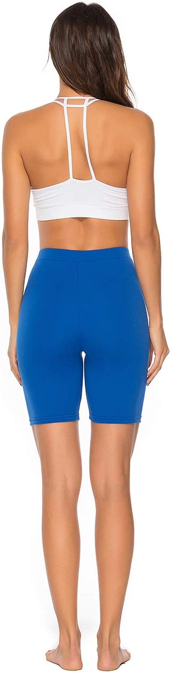 RIOJOY Women/'s Cycling Gym Running Yoga Shorts 1//2 Length Over-Knee Shorts Active Sport Casual Pants
