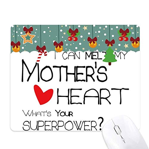 I Can Melt My Mother's Heart Best Mom Love Mouse Pad Game Office Mat Christmas Rubber Pad