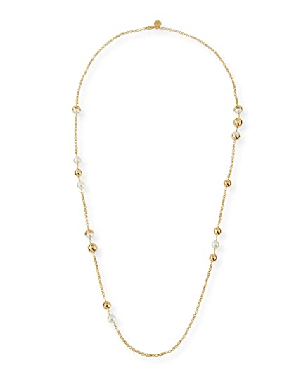 29d1aa2e39f064 Image Unavailable. Image not available for. Color: Tory Burch Women's  Capped Pearl Crystal Chain Necklace