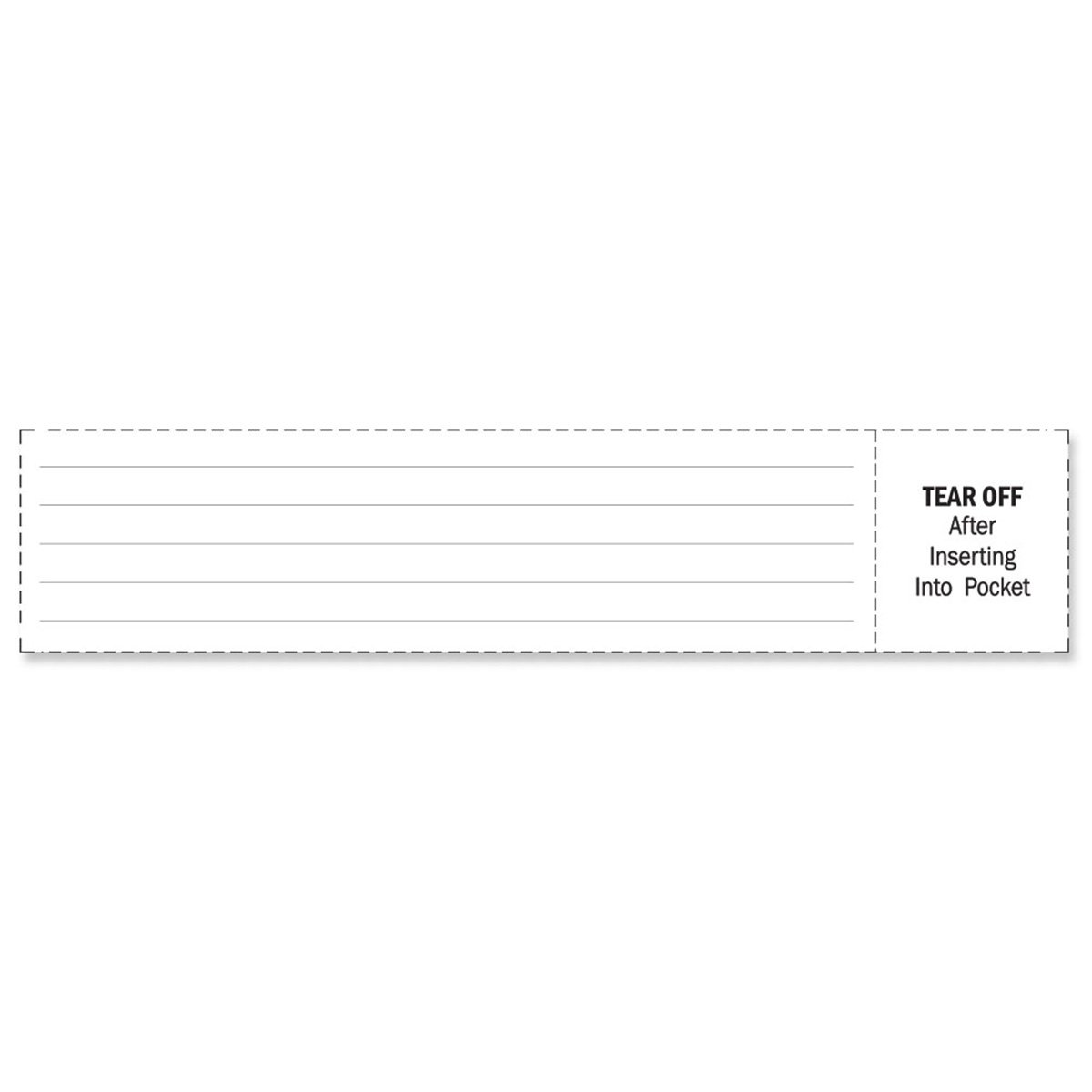 PDC Healthcare 8610-03-PDA Insert Cards Paper X, Adult, White (Pack of 288)