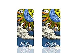 THYde Sun And Moon Celestial D Rough Case Skin, fashion design image custom , durable hard D case cover for ipod Touch4 , Case New Design By Codystore ending