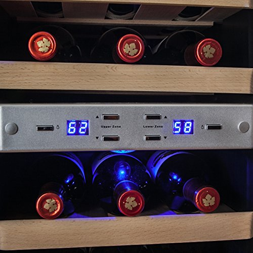 AKDY 21 Bottle Dual Zone Thermoelectric Freestanding Wine Cooler