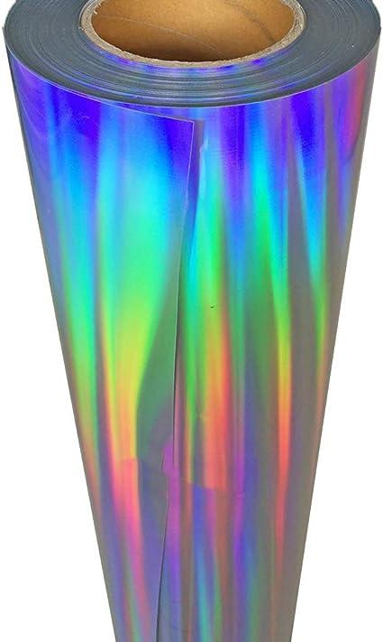 Topmail DIY Holographique Cristal Argent en Vinyle de Transfert de Chaleur Papier Thermocollant HIV Film de Lettrage pour V/êtement T-Shirt Logos Publicit/és Affiches,160cmx25cm Noir
