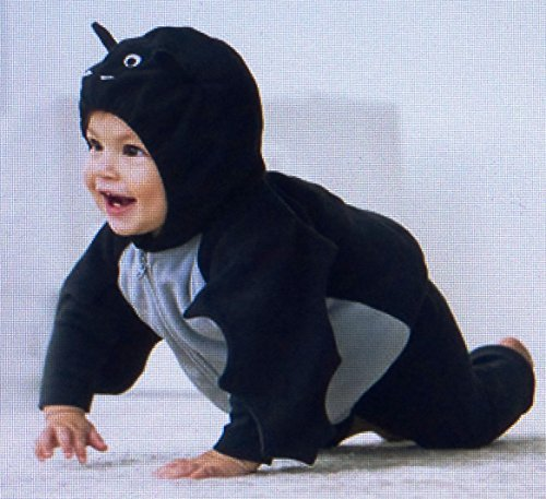 Toddler Fleece Bat Costumes (Carter's Halloween Costume Black Bat 18 Months Size 3 Pcs)