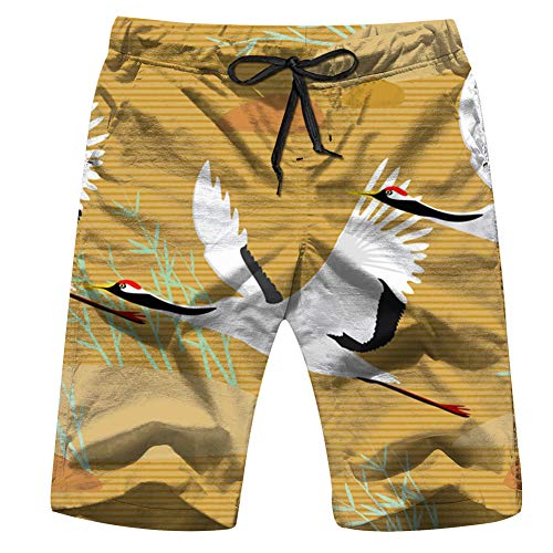 Halloween Cat Girls Autumn Mens Board Shorts Beach Lightweight Home Casual Shorts Swim-Trunks with Quick Dry XL for $<!--$19.88-->