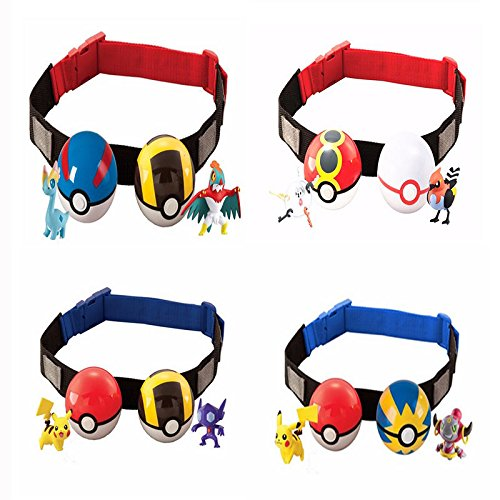 PlayMax Pokemon Clip N Carry Poke Ball Belt Adjustable Trainer Pikachu Premier Photo