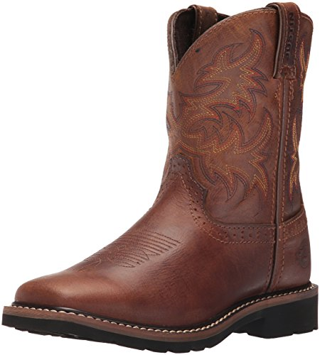 Justin Boots Kids' Buffalo Stampede Western, Brown, 5.5 D Big Kid -