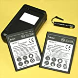 2 x 2700mAh Li-ion Battery for Samsung I8190 Galaxy S3 S III mini I8190 Net 10, with Charger,Screen Touch Stylus Pen (NOT FIT Samsung Galaxy S III Mini variant phones from AT&T/Verizon)