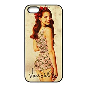 Customiz American Famous Singer Lana Del Rey Back Case For Iphone 4/4S Cover JN5S-2476