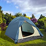 Professional Folding 2 Person Water Resistant Camping Tent Portable Light-weight Backpacking Tent With Carrying Bag (Blue)