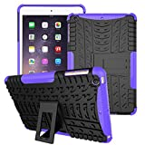 iPad Mini 1 Case, iPad Mini 2 Case, iPad Mini 3 Case, VPR 3 In 1 Hybrid Armor Defender Full Body Protective Unique Silicone Design Soft iPad Mini Cover Case for Apple iPad Mini 3/ 2/ 1 (Purple)