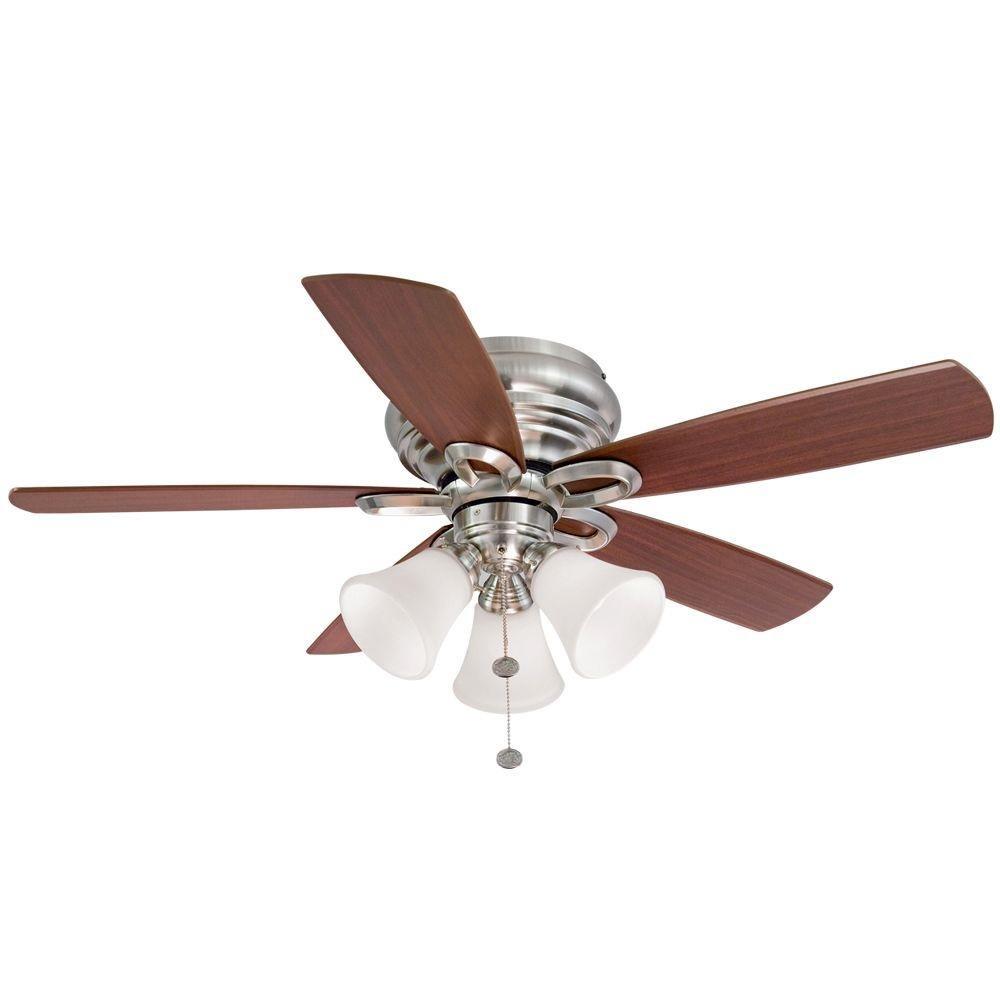 Hampton bay clarkston 44 in brushed nickel ceiling fan with light hampton bay clarkston 44 in brushed nickel ceiling fan with light kit amazon mozeypictures Choice Image