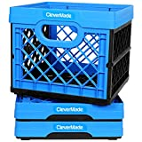 CleverMade Milk Crates, 25L Plastic Stackable