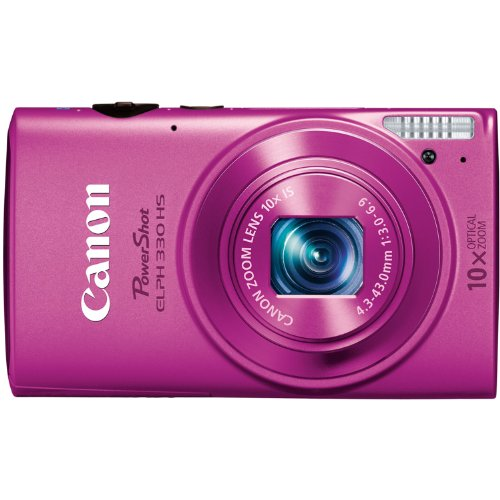 Canon PowerShot ELPH 330 12MP Digital Camera with 10x Optica