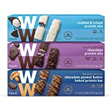 WW Protein Stix Variety Pack - Chocolate, Cookies and Cream & Chocolate Peanut Butter - Protein Snack Bars, 2-3 SmartPoints - 6 of Each Flavor (18 Count Total) - Weight Watchers Reimagined