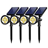 InnoGear Upgraded Solar Lights 2-in-1 Waterproof Outdoor Landscape Lighting Spotlight Wall Light Auto