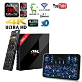APTC Octa Core H96 Pro+ Plus Amlogic S912 32GB/3GB RAM 1080p 4K 3D Android 7.1 Dual Wifi 5G Bluetooth 4.1 TV Box+Q9 Color Backlit Wireless Keyboard Remote
